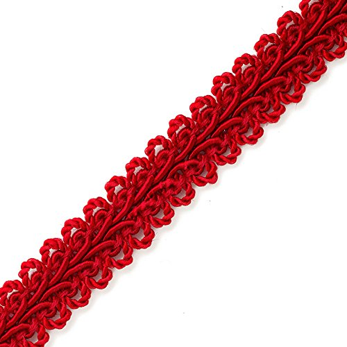 - Vintage Chinese Braided Gimp Trim, 1/2 inch by 3-Yards, Red, BADE-60197