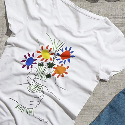 Pablo Picasso Flowers Bouquet Art T-Shirt (Short & Long Sleeve)