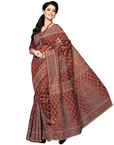 Roopkala Silks & Sarees Cotton Saree(BP-103_Brown)
