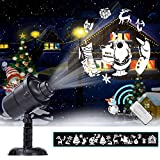 Christmas Light Projector LED Spotlight Landscape Light 3D Rotating 20 Patterns Waterproof Holiday Decoration Illumination Outdoor Indoor Xmas Theme Party Yard Garden