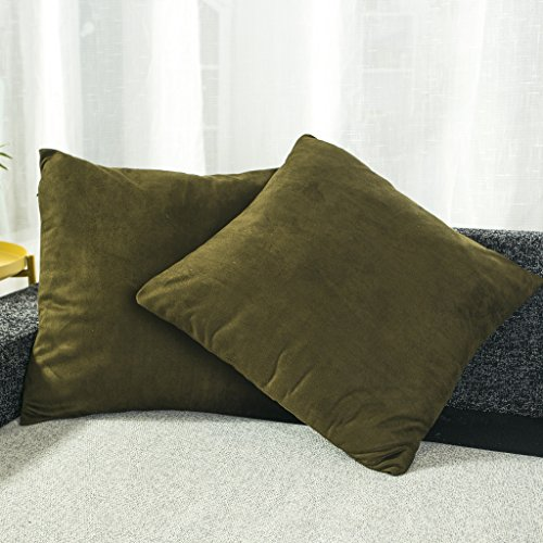 Best Dreamcity Set of 2 Faux Suede Cushion Covers / Pillowcase for Sofa (18