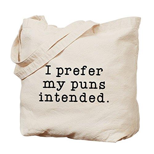 CafePress–Wortspiele Beabsichtigt–Leinwand Natur Tasche, Reinigungstuch Einkaufstasche