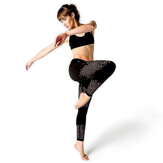 6e6a00a1ec Yoga Design Lab Laser Cut Leggings (Moondancer, Large): Amazon.co.uk:  Sports & Outdoors