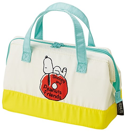Skater insulated Pouch Lunch Bag, 22 X 11.5 X 16 cm Snoopy Friends Peanuts KGA1  (Peanuts Box Lunch)