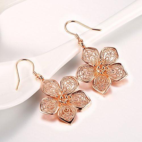 Clover Earrings Girls Earrings Silver Dangle Earrings Sterling Silver Flower Jayelay Jewelers USA Womens Silver Earrings Drop Earrings