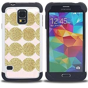 - shiny pink pattern dot/ H??brido 3in1 Deluxe Impreso duro Soft Alto Impacto caja de la armadura Defender - SHIMIN CAO - For Samsung Galaxy S5 I9600 G9009 G9008V