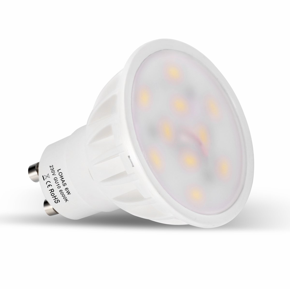 Lohas gu10 6watt led beautiful 6000k day white colour 50watt lohas gu10 6watt led beautiful 6000k day white colour 50watt replacement for halogen bulb with new chip technology with 1 year warranty5 packnon parisarafo Gallery