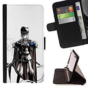 For Samsung Galaxy S5 V SM-G900 cool anime soldier fight Style PU Leather Case Wallet Flip Stand Flap Closure Cover