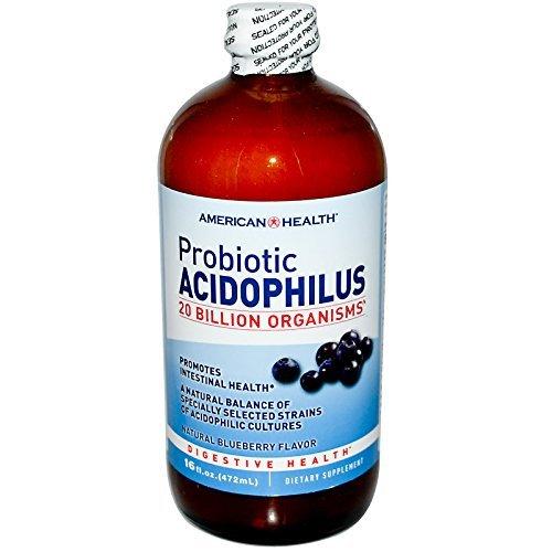 American Health, Acidophilus Liquid, Blueberry, 16 oz -