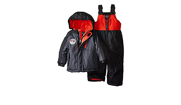 0bb06c190 Amazon.com: ZeroXposur Infant & Toddler Boys Black Snow Bibs & Coat Set  Snowsuit: Clothing