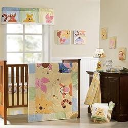 Disney Baby Peeking Pooh & Friends 7-Piece Crib Set by Disney