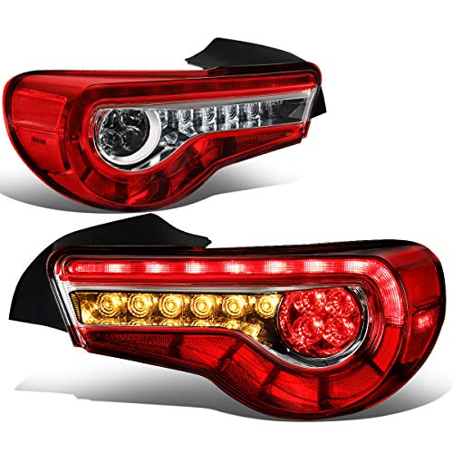 DNA MOTORING TL-3DLB-FRS-RD Sequential LED Turn Signal Tail Light [for 13-18 Scion ()