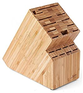 Culina Bambus Messerblock für die Arbeitsplatte - 19 Einsteck-Schlitze