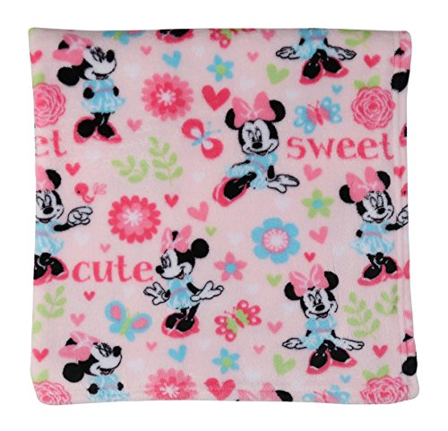 Disney GS70654 Minnie Mouse Super Soft Fleece Blanket, Pink