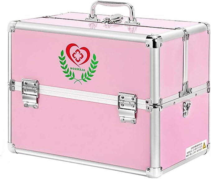 YXYXX Portátil Botiquín de Primeros Auxilios,Metal Multicapa Multifuncional Caja de Almacenamiento Médico,Impermeable Botiquín de Primeros Auxilios Vehículo Oficina Robusto/rosado / 30 x 21 x: Amazon.es: Bricolaje y herramientas