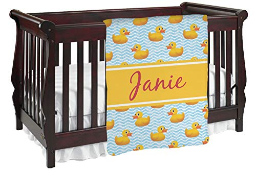 Rubber Duckie Baby Blanket (Double Sided) (Personalized) ()