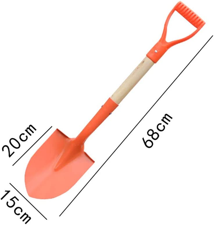 Round Wupettier Gardening Shovel Portable Strong Sturdy Build and Easy to use Tool Premium Quality Multipurpose Shovel for Outdoor Agricultural Shoveling