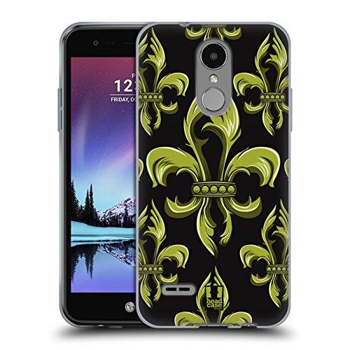 Phoenix Fleur De Lis - Head Case Designs Ornament Fleur De Lis Collection Soft Gel Case for LG K4 (2017) / Phoenix 3