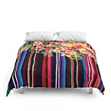 Society6 Florid Mexican Comforters Queen: 88'' x 88''