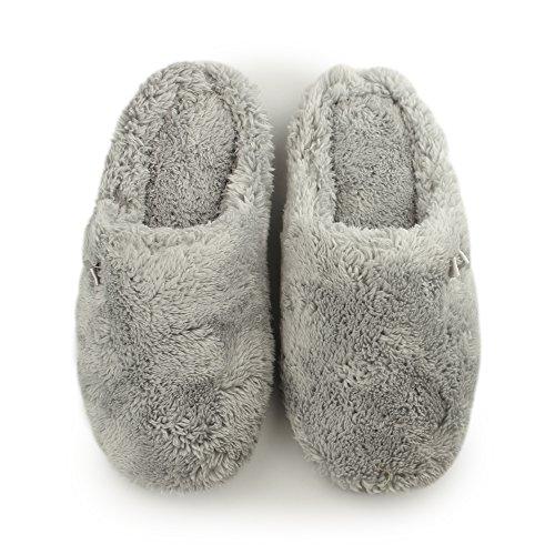 DearfoamsPlush Clog With Memory Foam - Zapatillas bajas para mujer SLEET