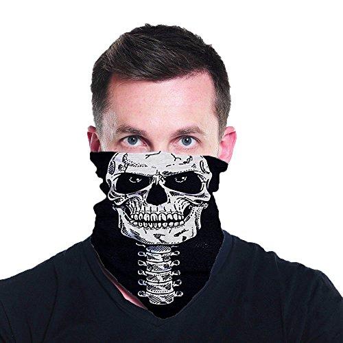White Skull Multi Functional Seamless Tube Bandana