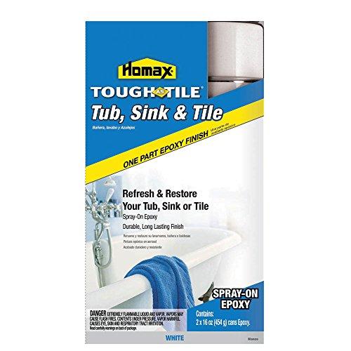 Homax 041072207713 Tub and Tile Refinishing Epoxy, White,...
