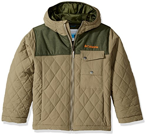 - Columbia Boys' Little' Lookout Cabin Jacket, Sage, Surplus Green Heather, XX-Small