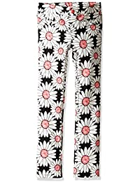 Pandapang Girls Winter Striped Elastic Waist Fleece Thick Stretchy Long Pants