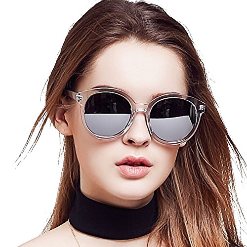 f3b160adc87 BLUEKIKI YEUX Polarized Mirror Fashion Oversized Round Women Sunglasses  (Silver