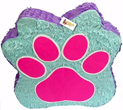 Teal Purple & Pink Puppy Paw Party Pinata