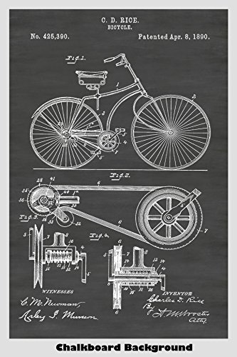 Antique Bicycle Poster Patent Print Art Poster: Choose From