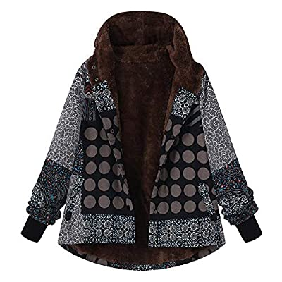 BSGSH Women Vintage Tribal Hooded Coats Clearance Sale! Warm Winter Fleece Thicken Jacket