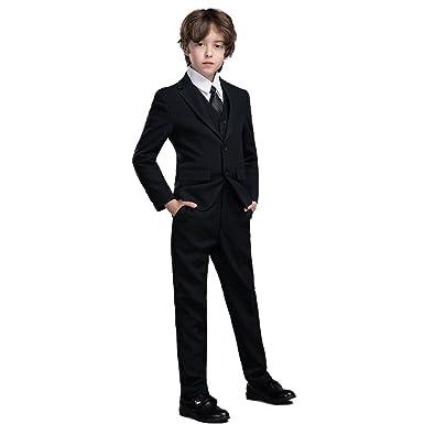 Amazon.com: Yanlu Boys Suits Jacket+Pants+Vest+Shirt+Tie 5 Piece ...