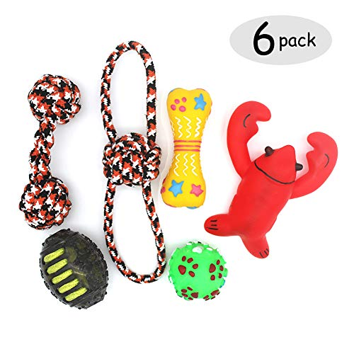 Pets Playmate Dog Chew Toys - Rope Squeak Toys pubby small