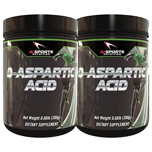 D-Aspartic Acid (DAA) by AI Sports Nutrition | Twin Pack 2x 300 Gram Tubs