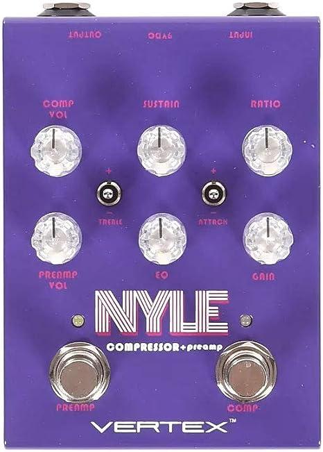 Vertex NYLE Compresor/Preamplificador Pedal de efectos de guitarra ...