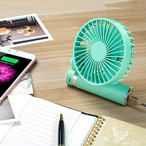 Personal Portable Foldable Rechargeable Desktop Cooling Fan Mini Handheld USB Fan 3-Speed Set with Night Light