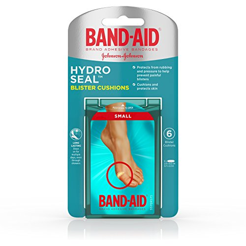 Band-Aid Brand Hydro Seal Blister Cushion Bandages, Waterproof Ashesive Pads, Small, 6 ct ()