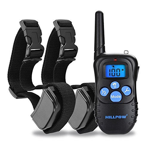 hillpow-rechargeable-and-rainproof-waterproof-330-yd-remote-control-dog-training-shock-collar-with-b