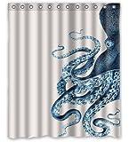 Custom Octopus Steampunk Ocean Shower Curtain - Bathroom Decor
