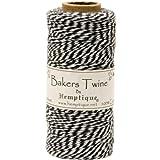 Hemptique Cotton Baker's Twine Spool 2 Ply, 410-Feet, Black