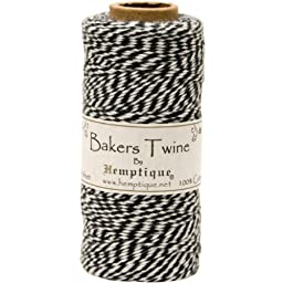 Hemptique Cotton Baker\'s Twine Spool 2 Ply, 410-Feet, Black
