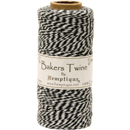 Thick Bakers (Hemptique Cotton Baker's Twine Spool 2 Ply, 410-Feet, Black)