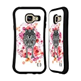 Official Monika Strigel Wolf Animals And Flowers 2 Hybrid Case for Samsung Galaxy A3 (2016)