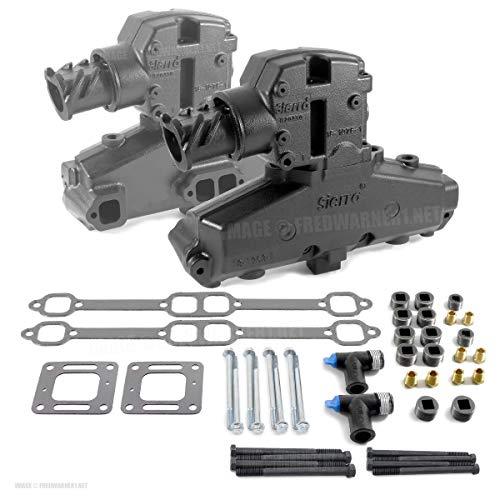 - Mercruiser 5.0L 5.7L V8 305 350 Manifold And Riser Kit
