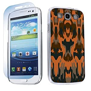 Samsung Galaxy S3 S-III Hard Plastic Cover Case + Screen Protector - Tribal By SkinGuardz