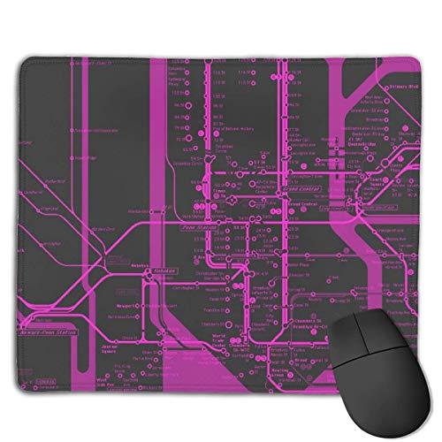 NYC Subway Black Purple High Speed Surface Desk Pad Gaming Mousepad