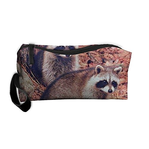Cananhjs New Pair Of Racoon Wildlife Baby Animalhome Portable Hanging Toiletry Travel Bag &Cosmetic Bag Pencil Case (Racoon Makeup)