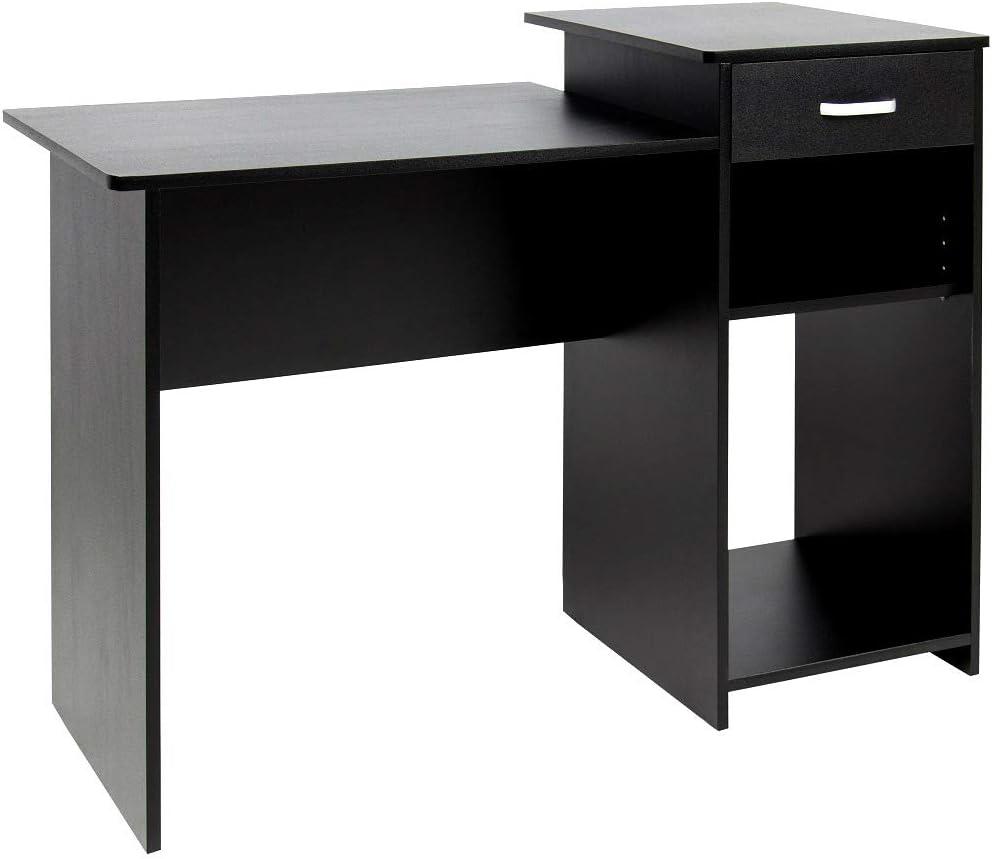 Amazon.com: Computer Desk Black Wood PC Laptop Table Study