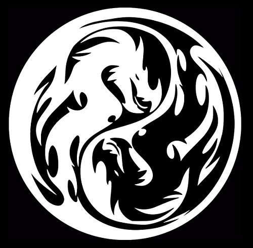 Tribal Dragon Yin Yang Decal Vinyl Sticker|Cars Trucks Walls Laptop|WHITE|5.5 - How Much These They Sunglasses Are Great Are